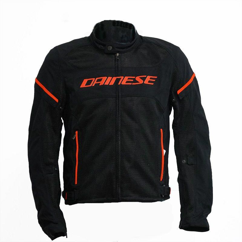 Dainese Air Frame D1 Mens Mesh Jacket Black Black Fluo Red