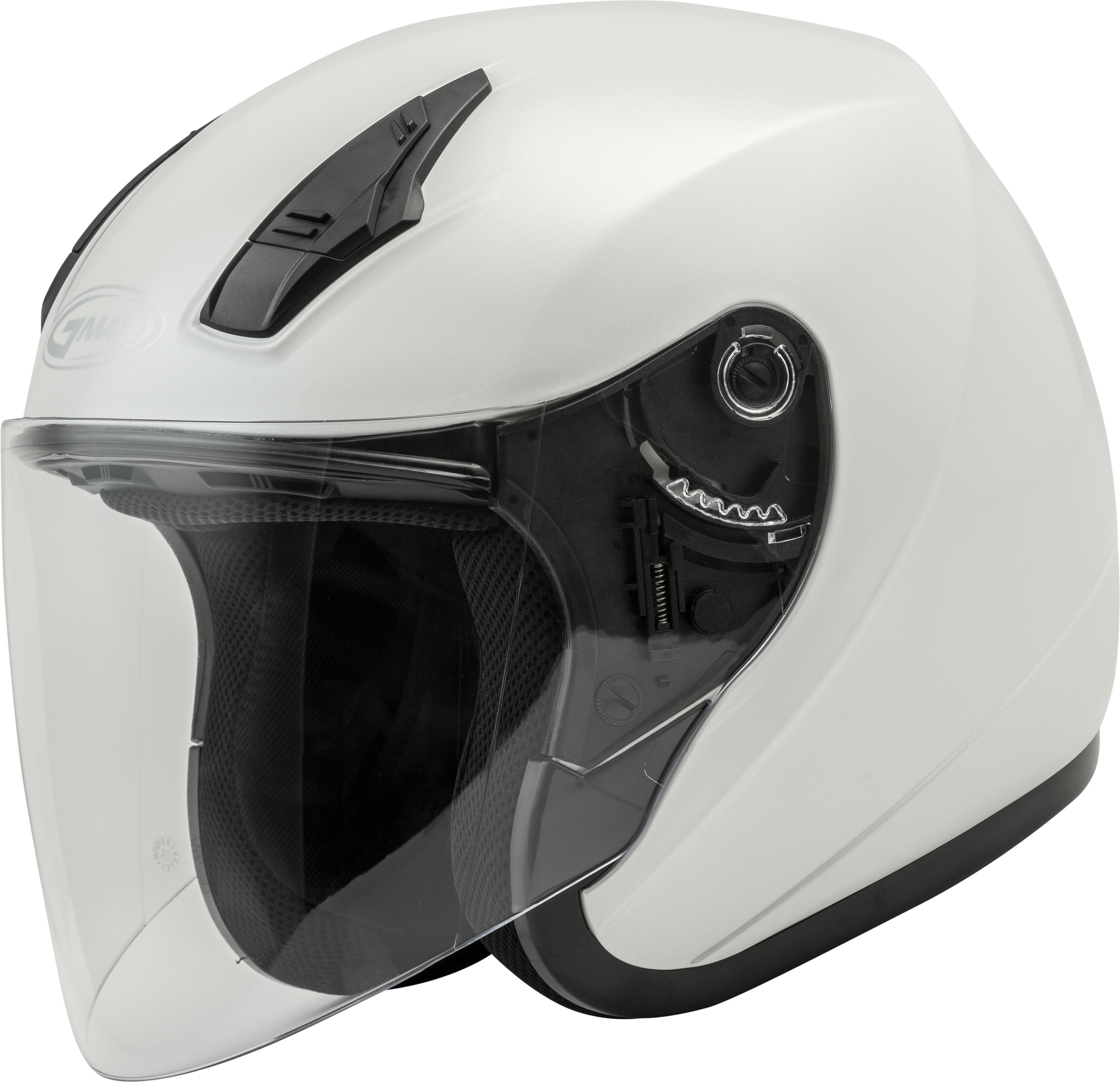 Dark Silver Choose Size GMAX OF-17 Open-Face Motorcycle Helmet