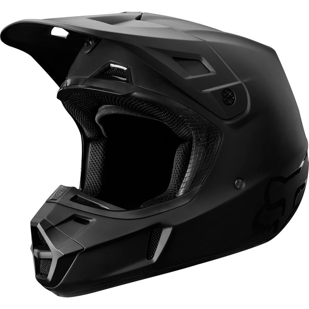bbe30dbe Apparel & Merchandise FOX RACING BLACK WHITE V1 PRZM MX HELMET OFF ROAD  DIRT BIKE BAJA ...