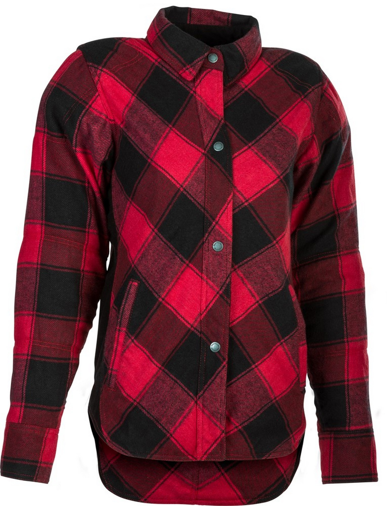 Highway 21 Marksman Mens Motorcycle Long Sleeve Flannel Shirt W//CE Armors//PE Back Armor Black//Red Size 2XL