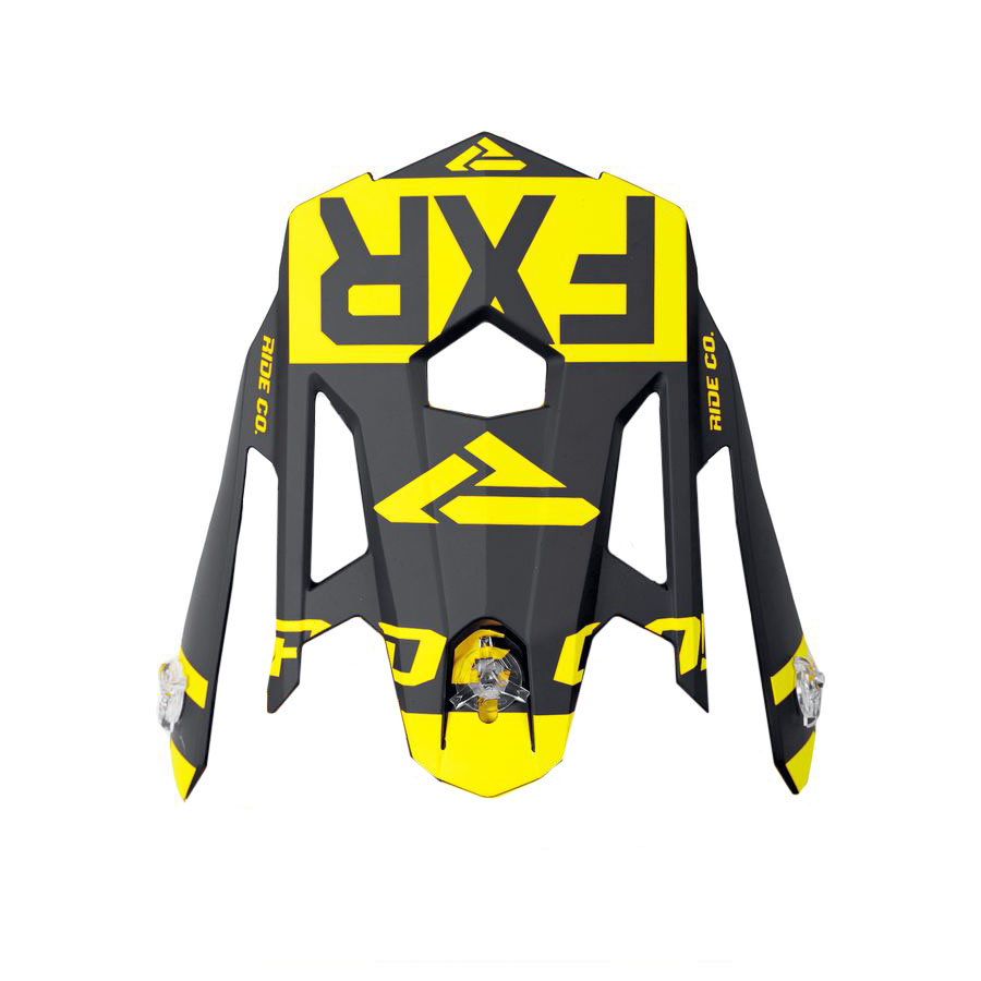 FXR Torque X Core Helmet Replacement Peak Blue//Hi-Viz//Black