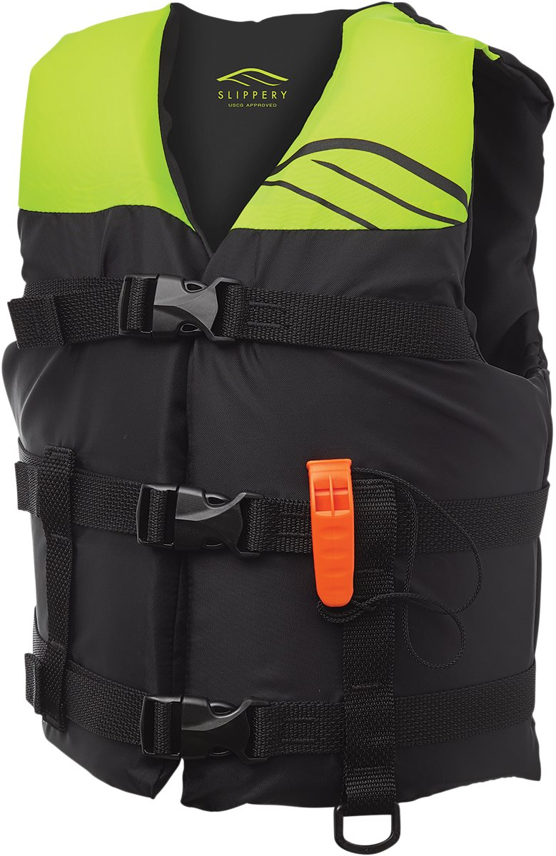 Slippery Hydro Nylon Life Vest Black//Yellow