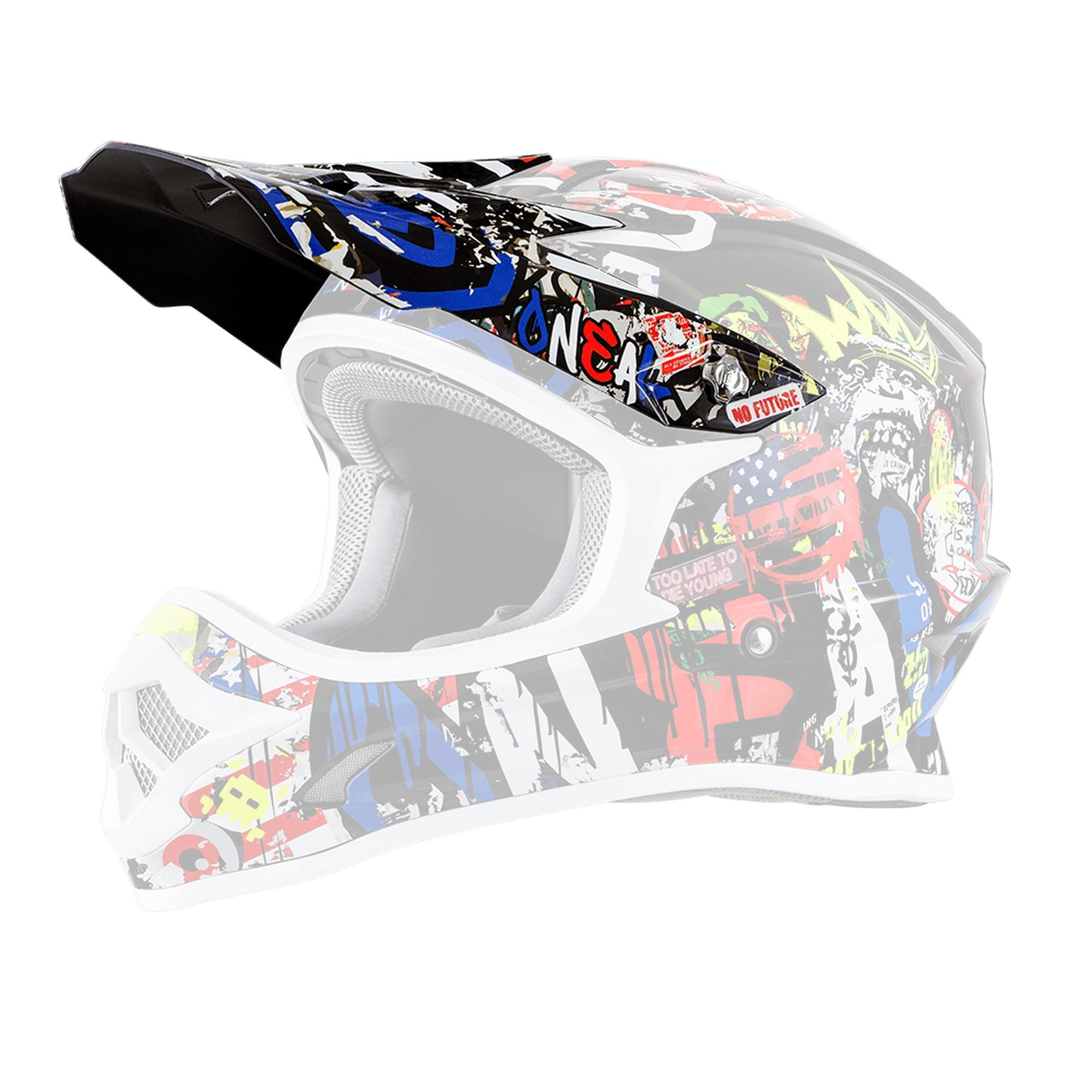 O/'Neal 3 Series Helmet Replacement Visor//Peak Rancid Multi